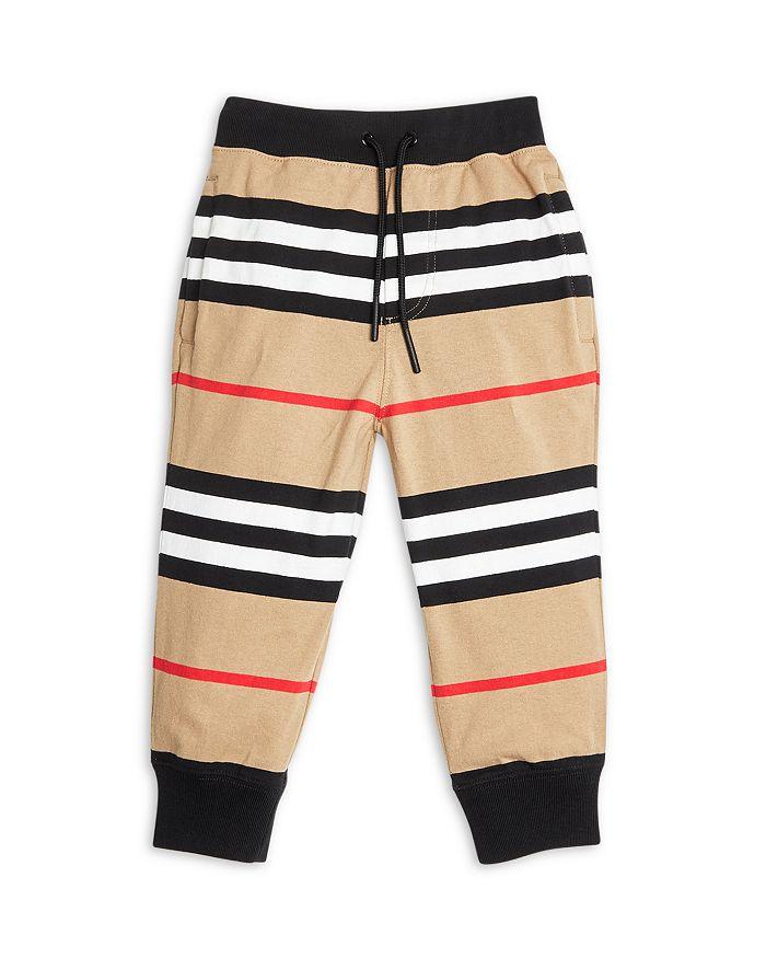 Burberry Boys' Lanford Icon Stripe Joggers - Little Kid, Big Kid In Beige