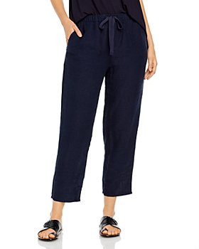 Eileen Fisher - Organic Linen Tapered Ankle Pants