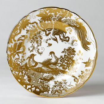 """Royal Crown Derby - """"Gold Aves"""" Salad Plate, 8"""""""