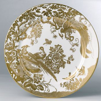 """Royal Crown Derby - """"Gold Aves"""" Service Plate, 12"""""""