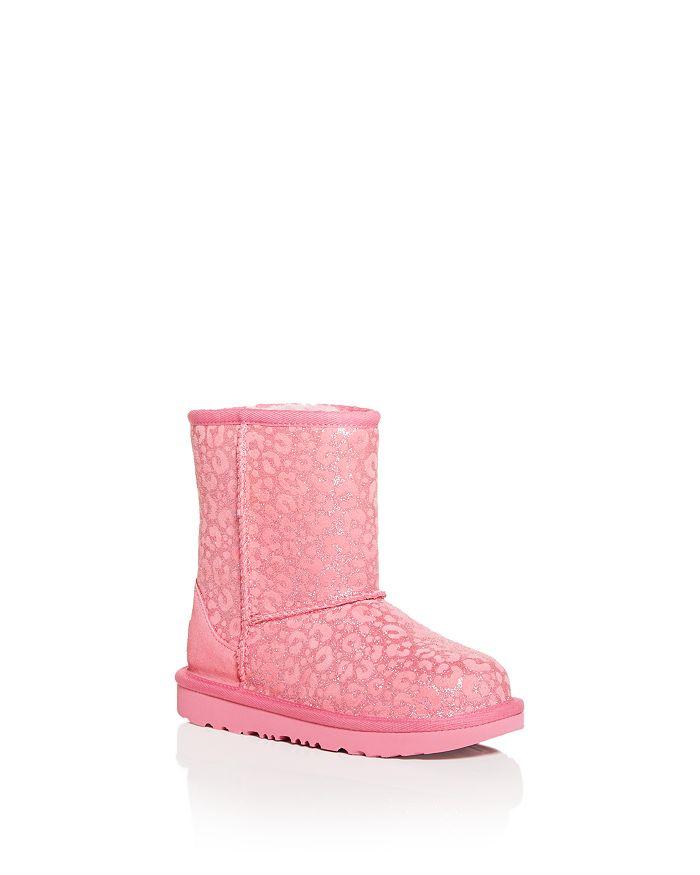 UGG® - Girls' Classic II Glitter Leopard Print Boots - Little Kid, Big Kid
