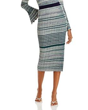 Ramy Brook - Paula Ribbed Bodycon Midi Skirt
