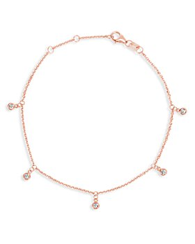 Bloomingdale's - Diamond Droplet Bracelet in 14K Rose Gold, 0.10 ct. t.w. - 100% Exclusive