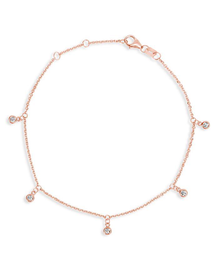 Bloomingdale's - Diamond Droplet Bracelet in 14K Rose Gold, 0.10 ct. t.w. - 100% Exclusive