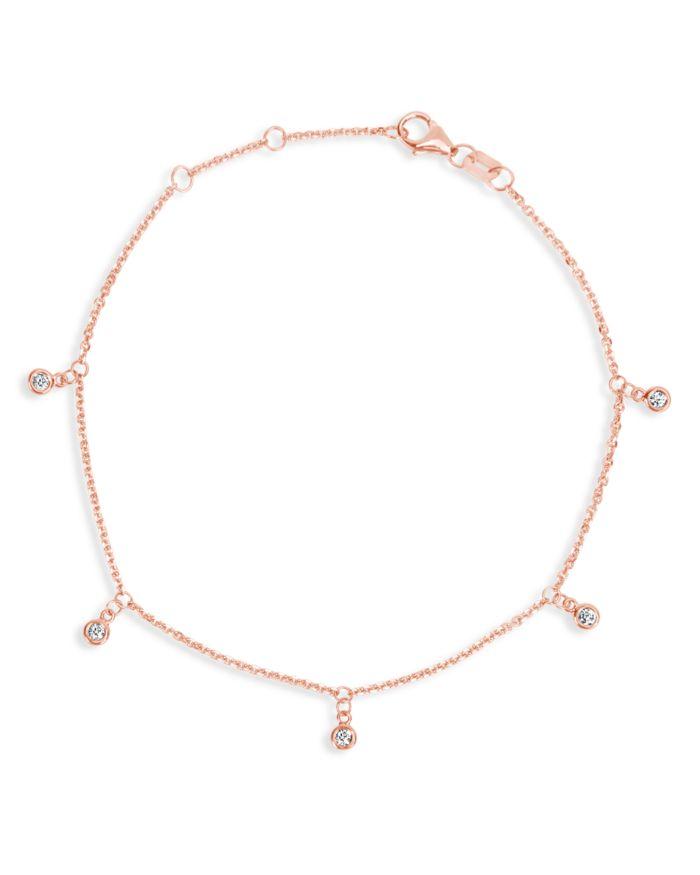 Bloomingdale's Diamond Droplet Bracelet in 14K Rose Gold, 0.10 ct. t.w. - 100% Exclusive    Bloomingdale's