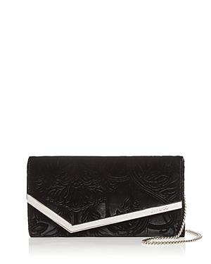 Jimmy Choo Emmie Floral Velvet Clutch-Handbags