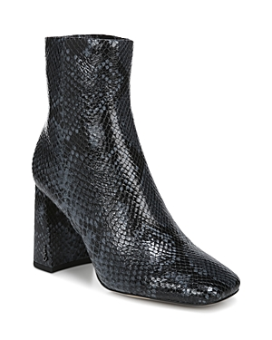 Sam Edelman WOMEN'S CODIE HIGH HEEL EMBOSSED LEATHER BOOTIES