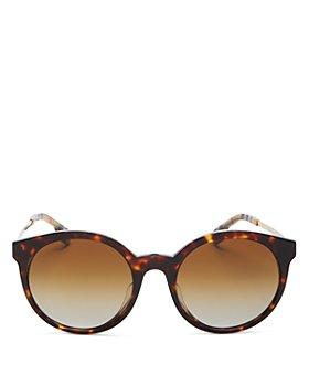 Burberry - Women's Polarized Round Sunglasses, 53mm