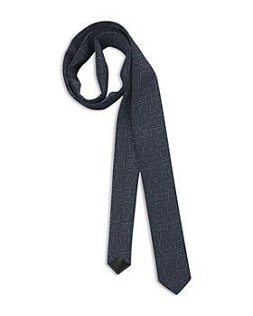 HUGO - Silk Broken Crosshatched Skinny Tie