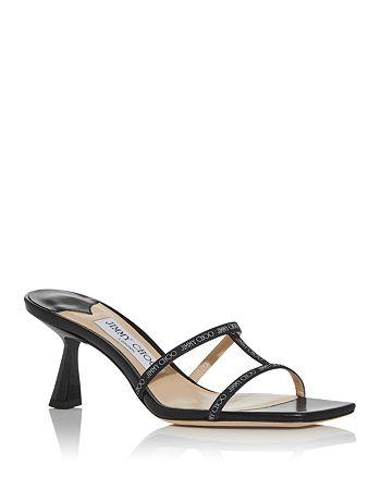 Jimmy Choo - Women's Ria 65 Kitten Heel Slide Sandals