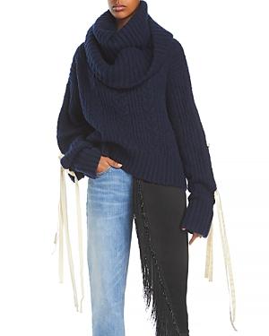 Mellors Tie Sleeve Sweater