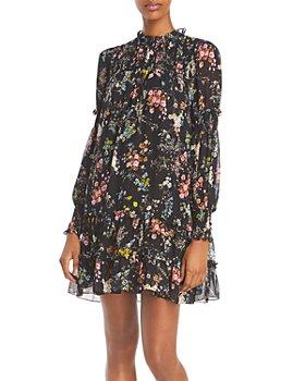 Cinq à Sept - Stephanie Ruffled Floral Print Dress