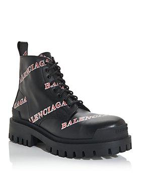 Balenciaga - Men's Logo Print Combat Boots