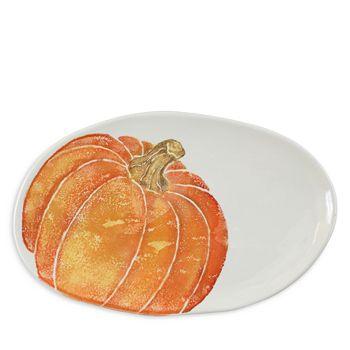 VIETRI - Pumpkins Small Oval Platter with Pumpkin