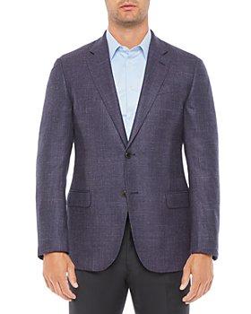 Armani - Regular Fit Solid Light Wool Blend Jacket