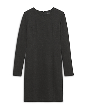 Theory Seamed Long Sleeve Dress