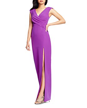Aidan Mattox - Draped Column Gown