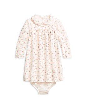 Ralph Lauren - Girls' Floral Print Velour Dress - Baby
