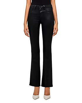 L'AGENCE - Oriana Bootcut Jeans in Noir Coated