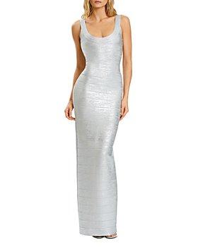 Hervé Léger - Banded Shimmer Knit Gown
