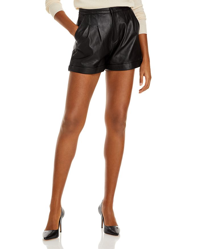 Lini Layla Leather Shorts - 100% Exclusive In Black