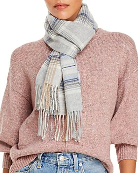 C by Bloomingdale's - Tartan Cashmere Scarf - 100% Exclusive