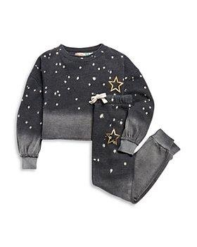 Vintage Havana - Girls' Star Cropped Sweatshirt & Star Jogger Pants - Big Kid