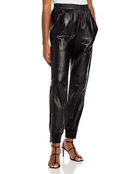 rag & bone - Leather Jogger Pants