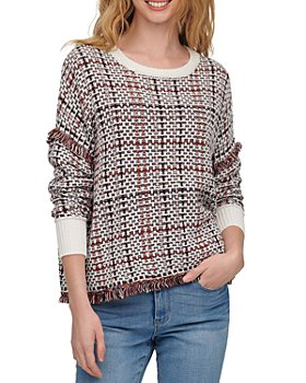 DKNY - Woven Plaid Sweater
