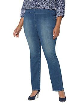 NYDJ Plus - Pull On Straight Leg Jeans in Clean Balance