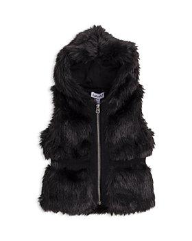 Splendid - Girls' Hooded Faux Fur Vest - Baby