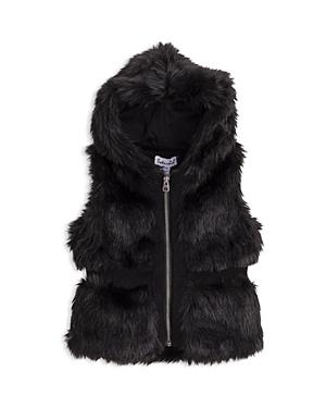Splendid Girls' Hooded Faux Fur Vest - Baby