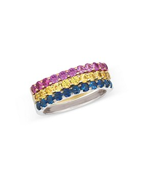 Bloomingdale's - Pink, Yellow and Blue Sapphire Band in 14K Gold - 100% Exclusive