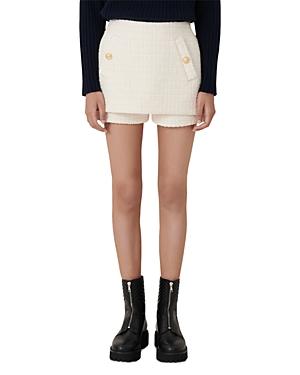 Maje Iandra Layered Tweed Skort-Women