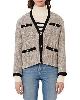 Maje - Vinie Lurex Tweed Jacket with Contrasting Trim
