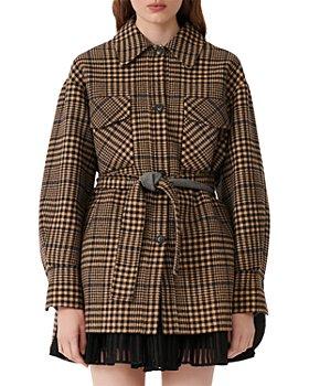 Maje - Gavino Plaid Belted Coat