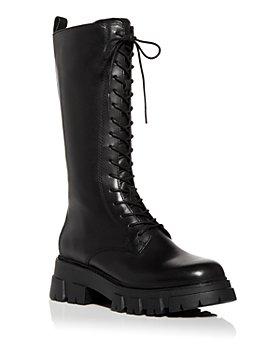 Ash - Women's Lullaby Block Heel Platform Tall Combat Boots