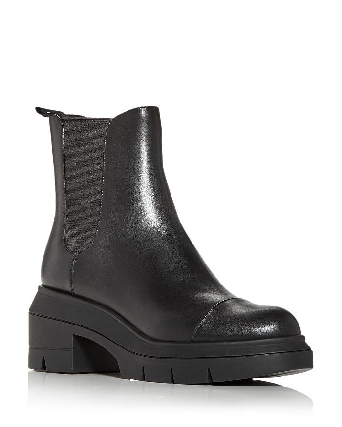Stuart Weitzman - Women's Norah Block Heel Platform Chelsea Boots