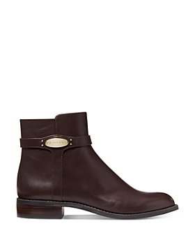 MICHAEL Michael Kors - Women's Finley Low Heel Leather Booties