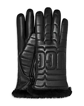UGG® - Logo Quilted Leather & Shearling Tech Gloves