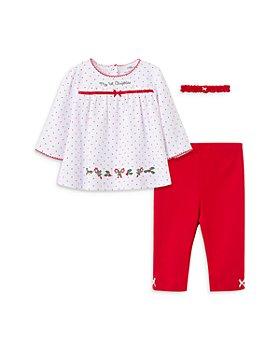 Little Me - Girls' 3-Piece Holly Tunic, Leggings & Headband Cotton Set - Baby