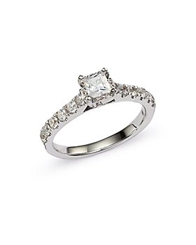 Bloomingdale's - Princess Cut Engagement Ring in 14K White Gold - 100% Exclusive