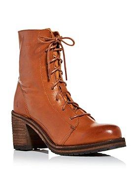 Frye - Women's Karen High Block Heel Combat Boots