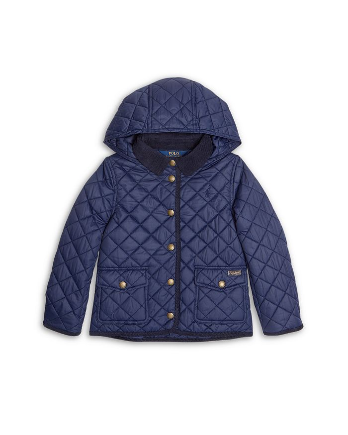 Ralph Lauren - Girls' Water Resistant Hooded Barn Jacket - Little Kid, Big Kid
