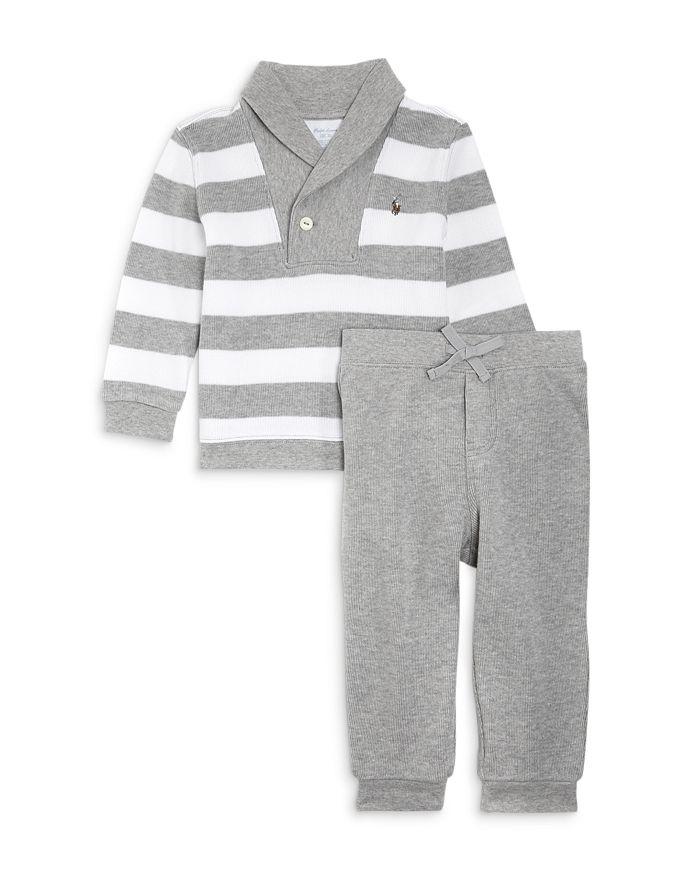 Ralph Lauren - Boys' Rugby Stripe Shirt & Jogger Pants Set - Baby
