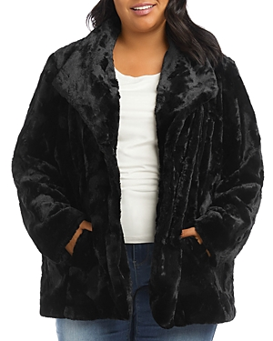 Karen Kane Plus Size Faux Fur Jacket