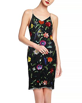 Aidan by Aidan Mattox - Floral Embroidered Mini Dress