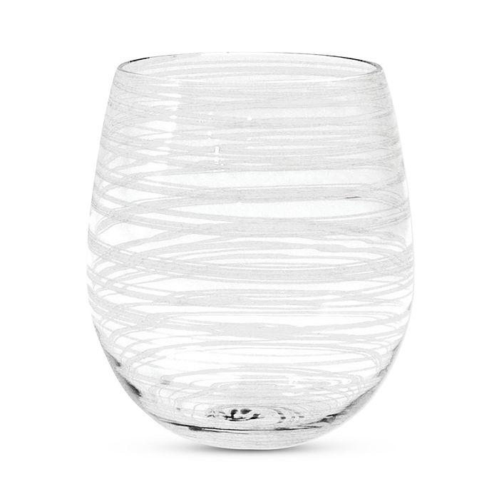 VIETRI - Swirl White Stemless Wine Glass
