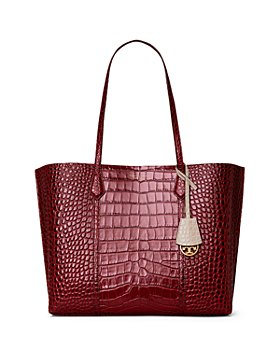 Tory Burch - Perry Embossed Leather Triple Compartment Tote