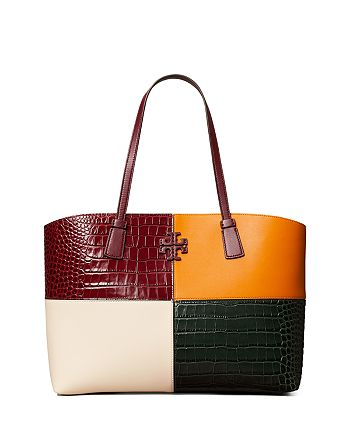 Tory Burch - McGraw Color Blocked Embossed Tote